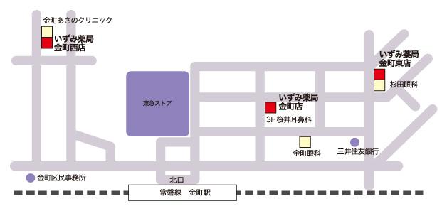 いずみ薬局金町東店交通アクセスマップ